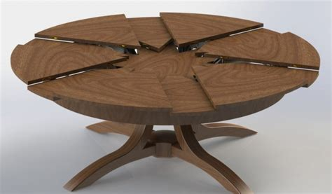 expanding table mechanism expandable round table in simple mechanism the homy design