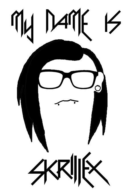 Tshirt Skrillex 07 my name is skrillex t shirt design by totallybananas on