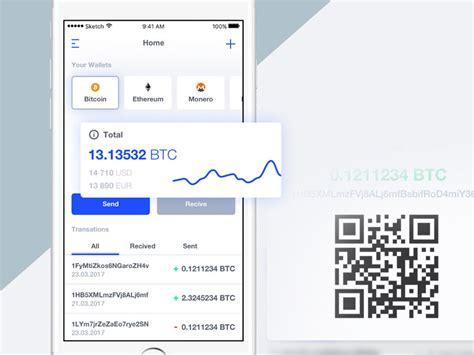 bitcoin app tutorial bitcoin wallet app concept sketch freebie download free