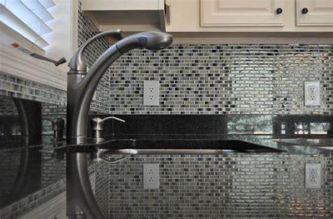 Black Glass Tiles For Kitchen Backsplashes by Tile Backsplash Remodel Utah