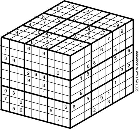 Printable Sudoku Cube | totally brainsome krychle sudoku