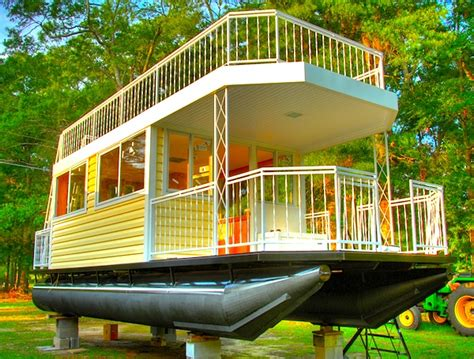 house pontoon boats epic 30 tiny house on pontoons with upstairs deck tiny house pins