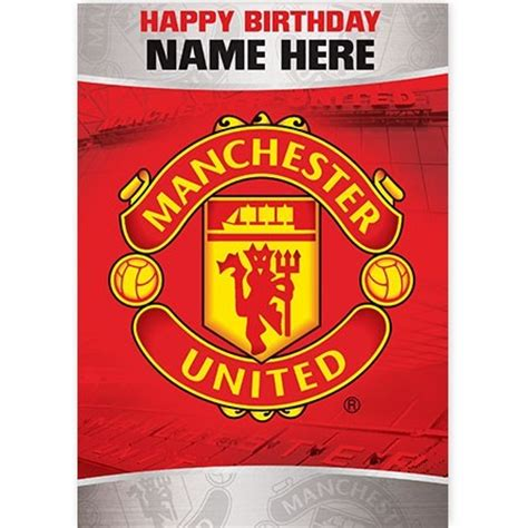 Manchester United Birthday Card Template manchester united quickclickcards