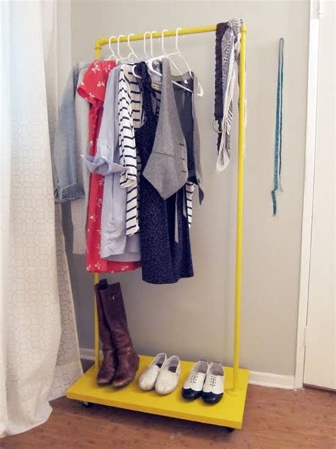 Small Rolling Clothes Rack by Storage Glee Diy Rolling Rack Could Be Done With Pvc