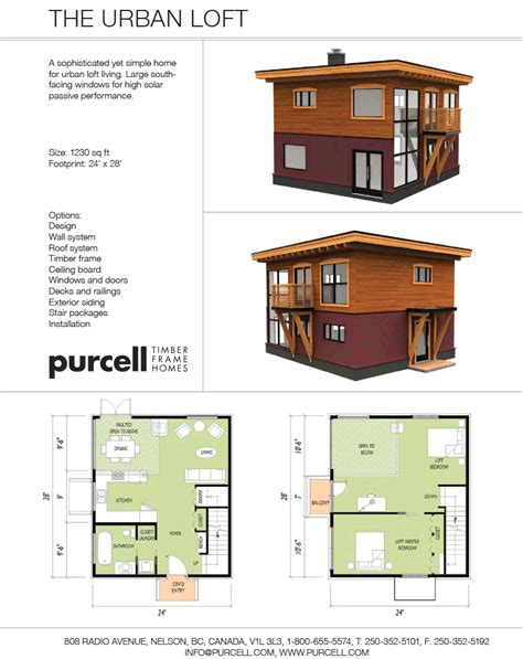 Urban Loft Plans | purcell timber frames the precrafted home company the
