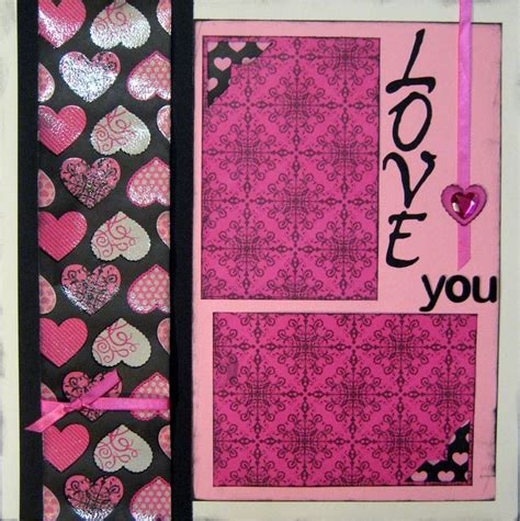 scrapbooking pages valentines wedding 12x12 layout kit