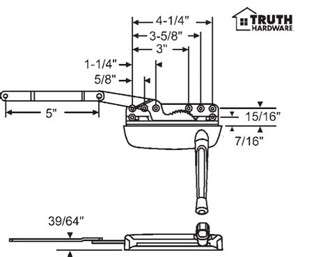 color chart truth hardware products biltbest window parts truth hardware sill mounted casement operator 36 372 1