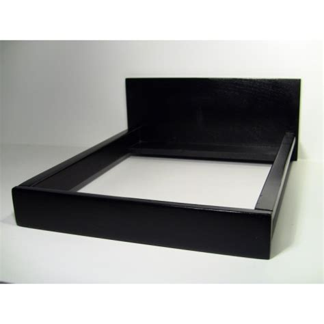 Black Platform Bed with Modern Dollhouse Furniture M112 Pods Black Platform Bed By Renfroe Design