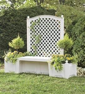 self watering bench trellis planter garden furniture