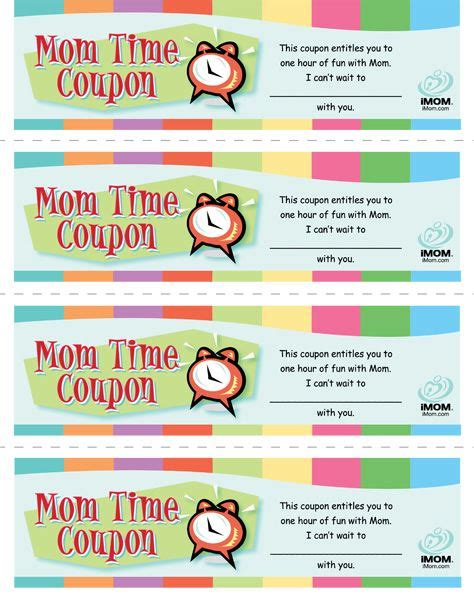 free printable love coupons for mom mom time coupons my boys single moms and just love