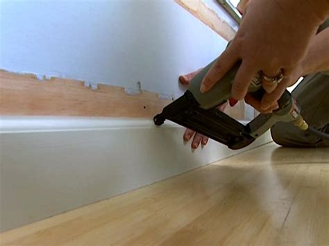 How To Instal Wainscoting How To Install Baseboards How Tos Diy