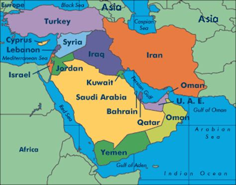 middle east map showing kuwait kuwait map middle east middle east map