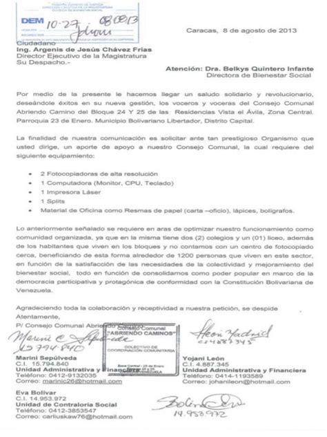Carta Formal Solicitud De Apoyo carta de solicitud de ayuda a la dem