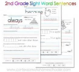 Free 2nd grade sight word sentences printables free homeschool deals