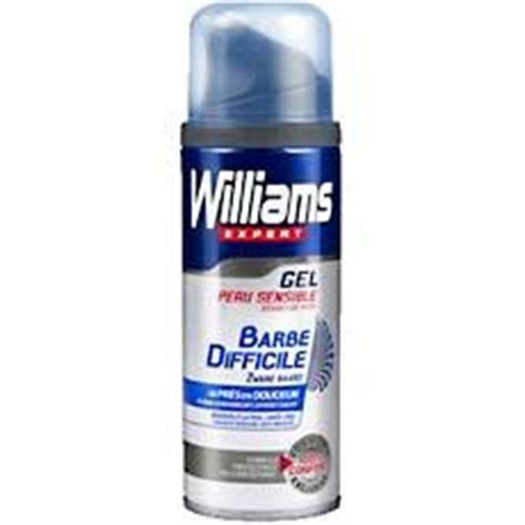 gel a raser pour barbe difficile williams 200ml tous