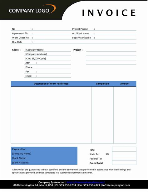 blank invoice microsoft word blank invoice form excel blank invoice