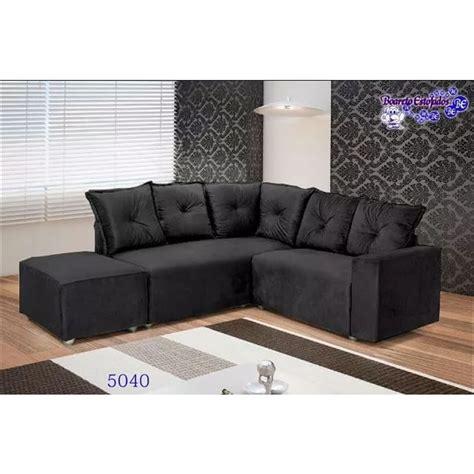 capa de sofá de canto redondo sof 225 de canto 5 lugares 5040 puff grande tecido suede