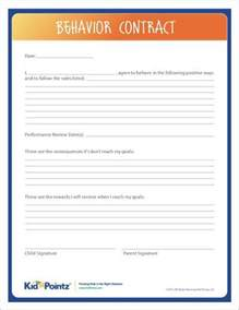 Parent Child Behavior Contract Template by 25 Best Ideas About Behavior Contract On