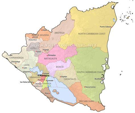 political map of nicaragua nicaragua maps freeworldmaps net