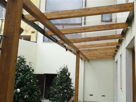 copertura tettoia trasparente tettoia con copertura in lastre di policarbonato compatto