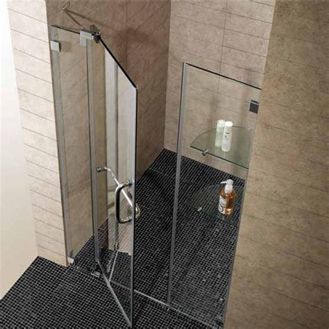 48 Inch Shower Door Vigo S 48 Inch Frameless Shower Door Features A Clean Low Profile Design Kitchensource