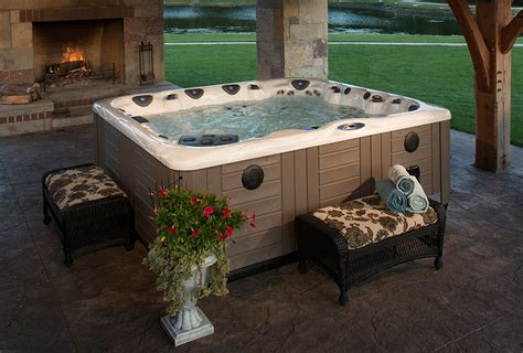 hot tub in backyard ideas backyard ideas for hot tubs and swim spas