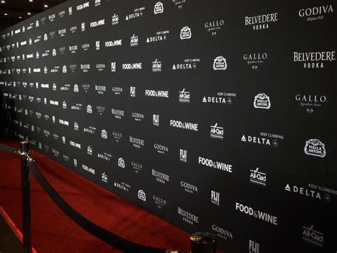 event backdrop layout step and repeat background for party or wedding guests