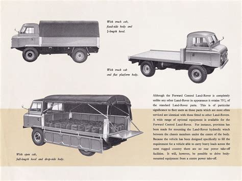 land rover forward control 1963 land rover forward control brochure
