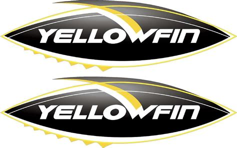 yellowfin boats decal yellowfin 430mm x 130mm x 2 boat decals ebay