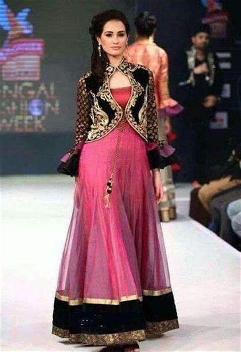 design of jacket suit long frock with koti style dressess pinterest