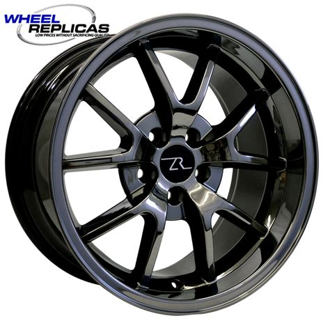 18x10 black chrome mustang fr500 wheels 05 12 wheel