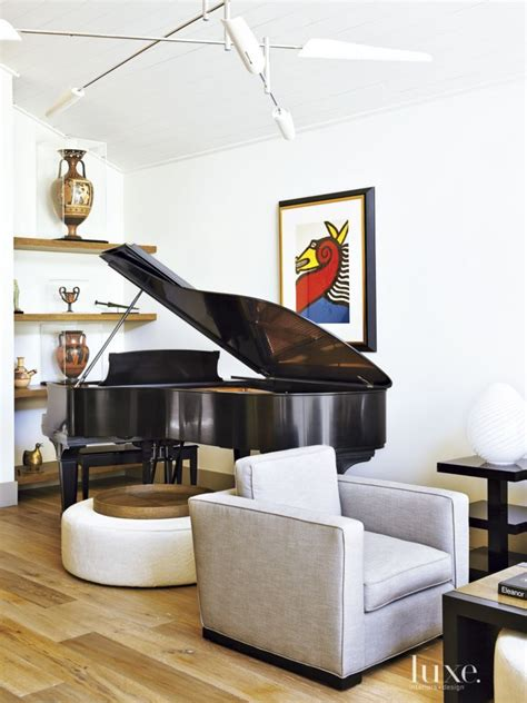 living room with piano contemporary white living room with grand piano luxe