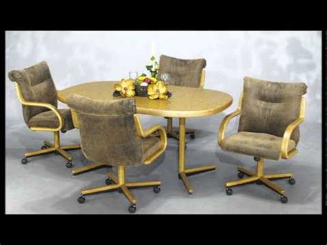 Dining Room Sets With Chairs On Casters Chromcraft Furniture Swivel Tilt Caster Chair And Table