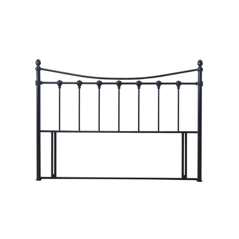 Black Metal Headboard by Time Living Florida 5ft King Size Black Metal Headboard