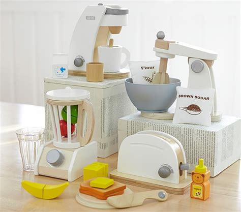 kids kitchen appliances wooden appliances pottery barn kids