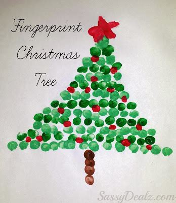hands on crafts for christmas in the morning fingerprint tree craft for crafty morning