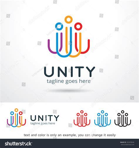 Unity Logo Template Design Vector Stock Vector 353978540 Shutterstock Unity Logo Communication Logo