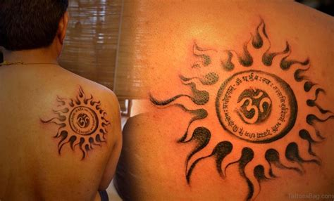 50 good looking om tattoos for shoulder