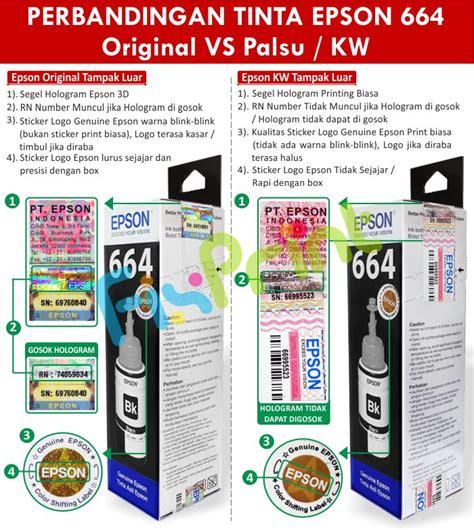 Epson 664 Tinta Printer Black jual tinta refill epson original 664 t6641 black 70ml