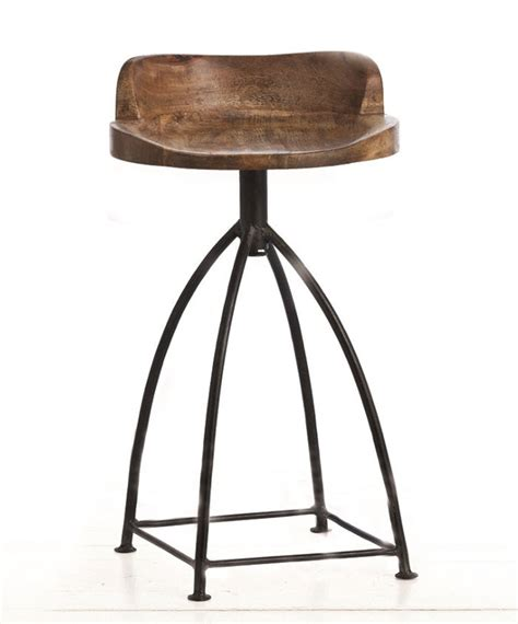 Wood And Iron Counter Stools by Henson Wood Iron Counter Stool Cottage Bungalow