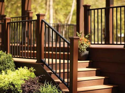 Exterior Banister by Best 25 Outdoor Stair Railing Ideas On