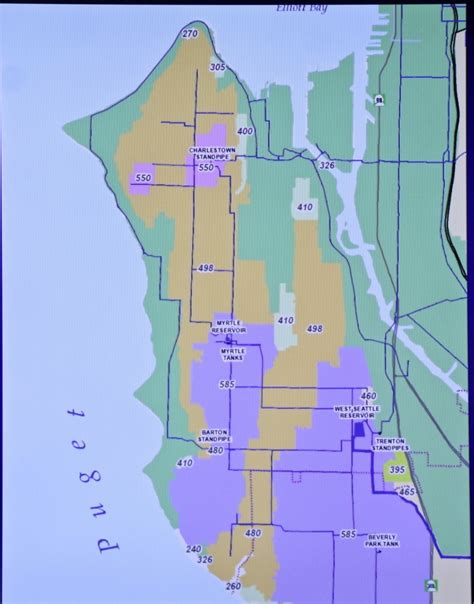seattle map rust west seattle before the big flush what you might