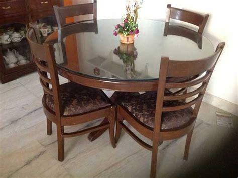 Meja Makan Kayu Bulat meja makan minimalis bulat klasik jepara mk 007 mebel jati furniture jepara furniture