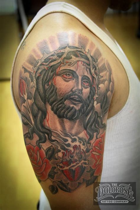 tattoos of jesus 61 lord jesus shoulder tattoos