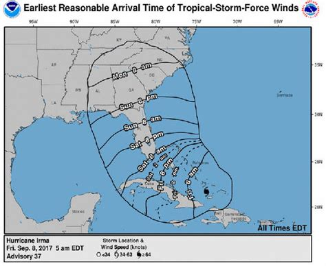 hurricane irma hit date when will hurricane irma hit florida path update as irma