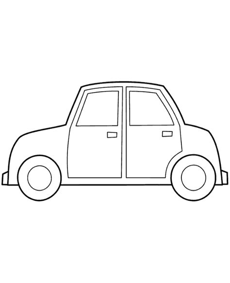 simple coloring pages of cars very simple coloring page for boys with car