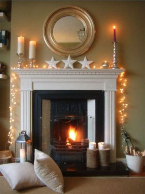 string lights for fireplace 25 cozy string lights ideas for living rooms digsdigs
