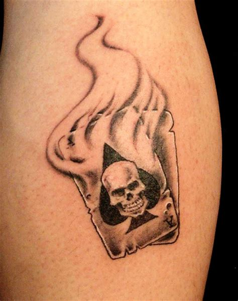 skull cards tattoo designs joker card designs
