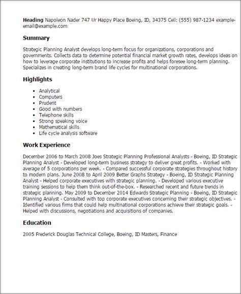 strategy analyst cover letter 1 strategic planning analyst resume templates try them