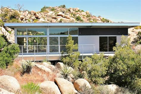 blue sky homes completes steel prefab home in yucca valley